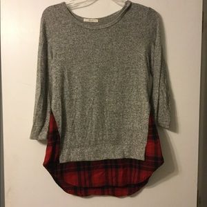 Plaid Sweater Top